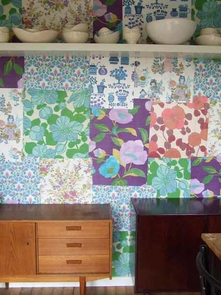Una buena idea: Patchwork de papel pintado