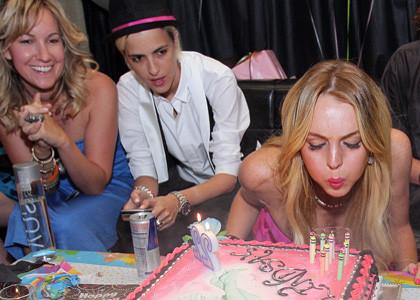 El look de Lindsay Lohan en su fiesta de cumpleaños