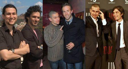 Rodrigo Cortés con los protagonistas de sus tres películas, Leonardo Sbaraglia, Ryan Reynolds y Cillian Murphy