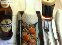 Estofado de ternera con cerveza Guinness. Receta