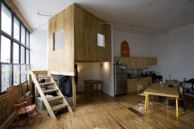 Habitaciones independientes dentro de un loft: a cabin in a loft