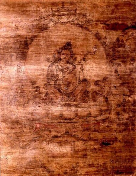 640px Chinese Sarasvati Walters 35292 Detail