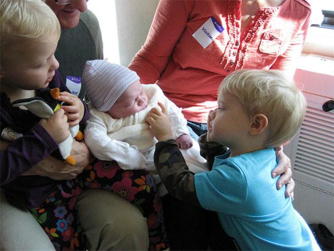 Bebé sin síndrome del niño burbuja