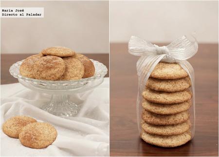 Snickerdoodles o galletas de azúcar y canela. Receta de Navidad