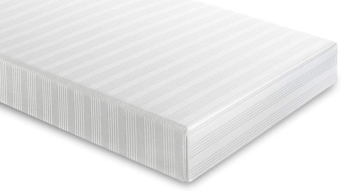 Casatex Protector de colchón/Cubre colchón en Pur Algodon Rayado, con 4 Esquinas Elásticas, Funda Transpirable, para Cama Individual