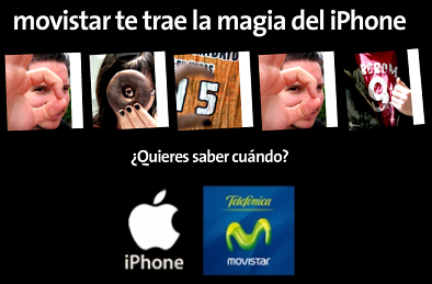 Web oficial del iPhone con Movistar