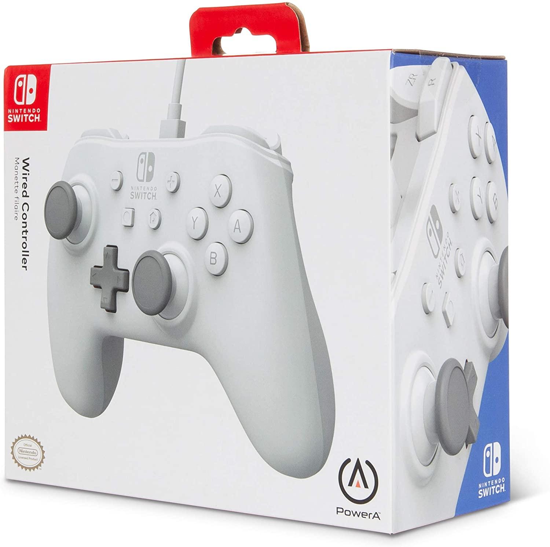 Control alámbrico para Nintendo Switch - Blanco