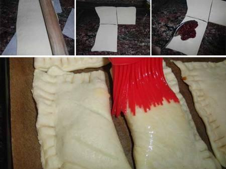 Preparación de los hojaldritos de higos Rocío