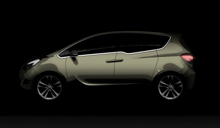 Opel Meriva Concept, primera imagen antes de Ginebra