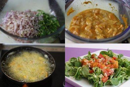 Hacer ensalada de pollo campero