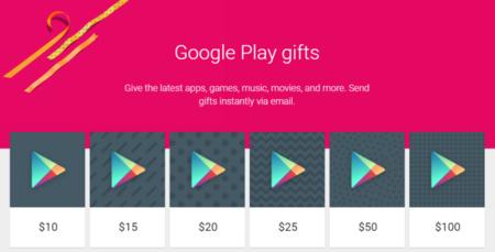 Es posible enviar crédito de Google Play por correo electrónico