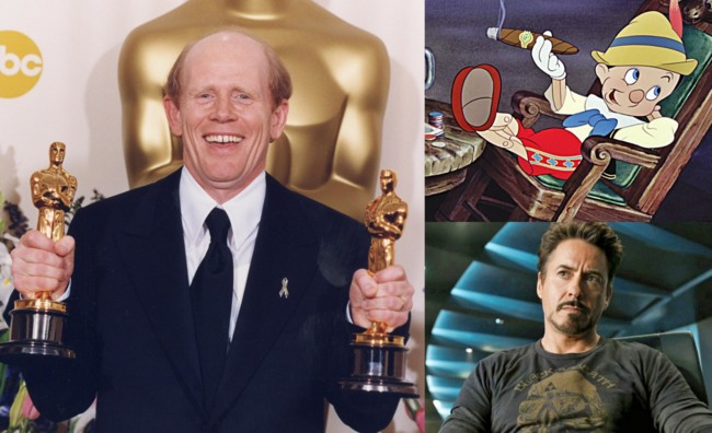Ron Howard, Pinocho y Robert Downey Jr.