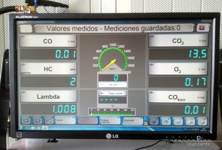 Prueba de gases en ITV