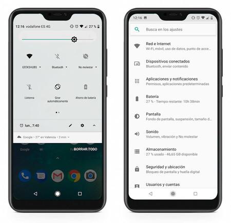 Xiaomi Mi A2 Lite ajustes