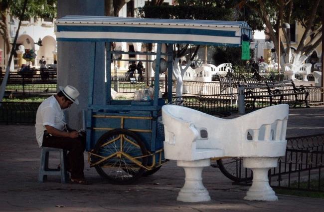 Heladero en la Plaza de Valladolid