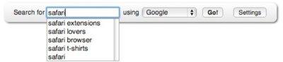 Añade cualquier motor de búsqueda a Safari mediante una extensión