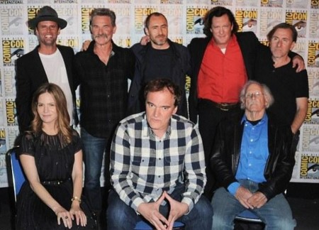 Tarantino y el reparto de The Hateful 8