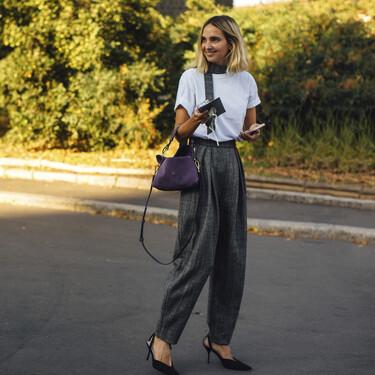 Las calles de Milán nos muestran cinco looks para acudir al despacho con un pantalón de traje como base