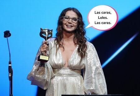 La verdadera protagonista del discurso de Victoria Abril en los Premios Feroz no fue ella, sino esta otra actriz (y sus reacciones)
