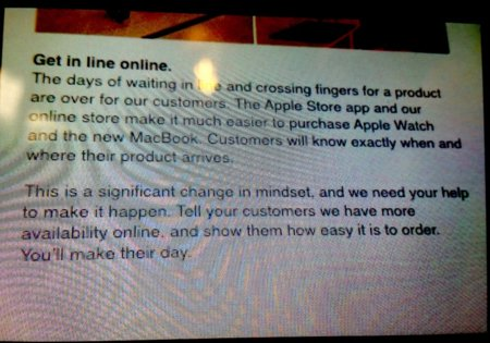 Comunicado Colas Apple Store