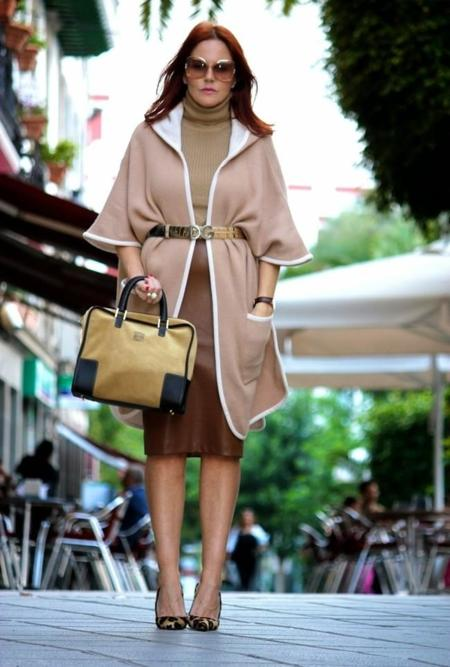 Zara Pale Brown Stradivarius Capes
