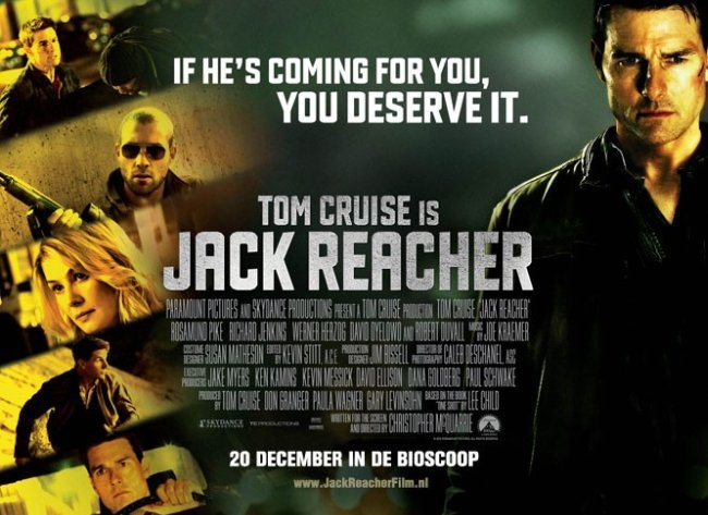 Un cartel de Jack Reacher
