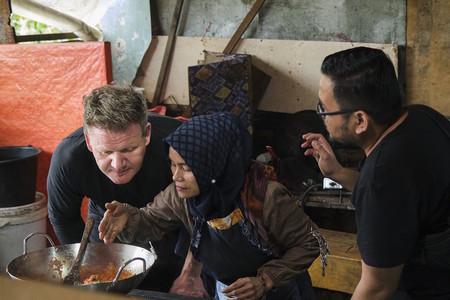 Chef Gordon Ramsay en la segunda temporada de Sabores Extremos. Foto: National Geographic y Ed Wray.