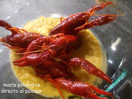 Receta de cangrejos con salsa de gazpacho