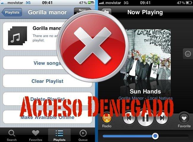 Grooveshark desaparece de nuevo de la App Store