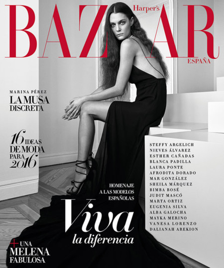 Hapers Bazaar Espana January 2016 Marina