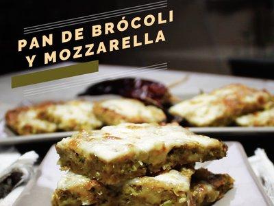 Pan de brócoli con mozzarella. Receta de botana en video
