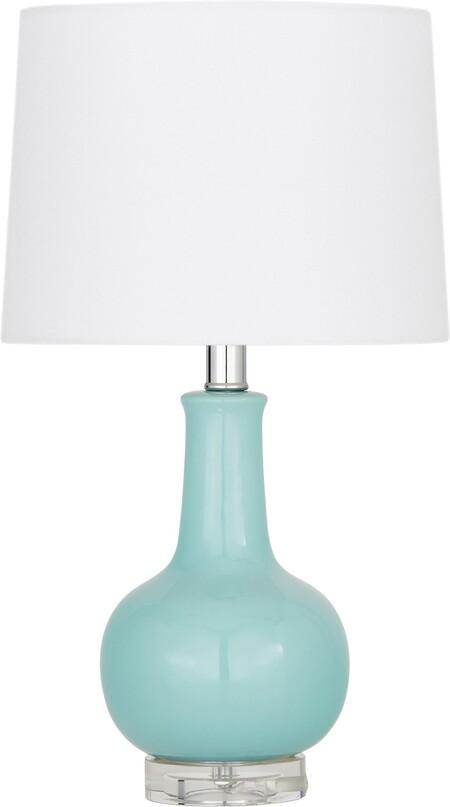 Lámpara de mesa de cerámica Brittany, Pantalla: tela, Cable: plástico, Blanco, turquesa, Ø 28 x Al 48 cm Miraluz Lámpara de mesa de cerámica Brittany 69,99 €
