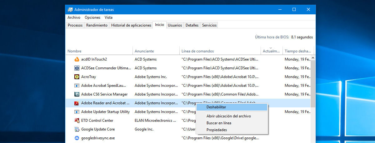 quitar programas inicio rapido windows 7