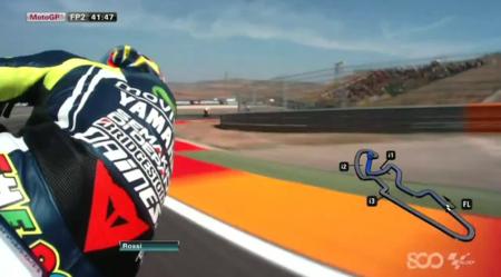 Una vuelta a Motorland con Valentino Rossi y la cámara con giroscopio