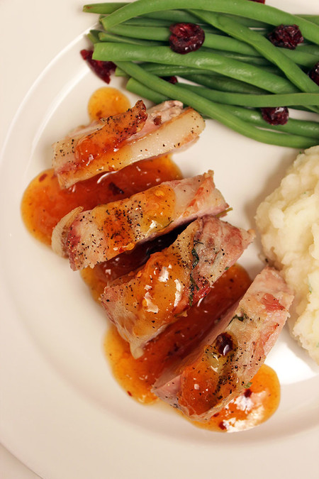Pork Loin With Apricot Sauce And Rosemar