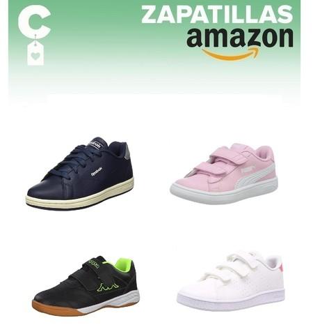 Chollos en tallas sueltas de zapatillas para niño Adidas, Puma o Reebok en Amazon de cara a la vuelta al cole