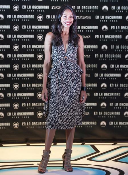Veneta Zoe Saldana look moda