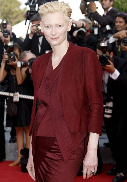 El no maquillaje de Tilda Swinton en Cannes 2009
