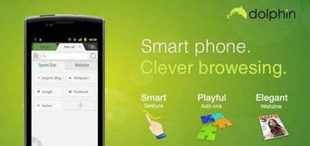 Nueva versión del navegador Dolphin HD para Android y su nuevo Webzine
