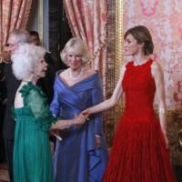 Junto a la Reina Letizia
