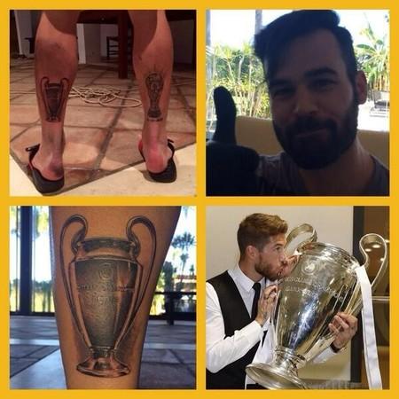 Lo prometido es deuda y Sergio Ramos se planta un nuevo tatuaje