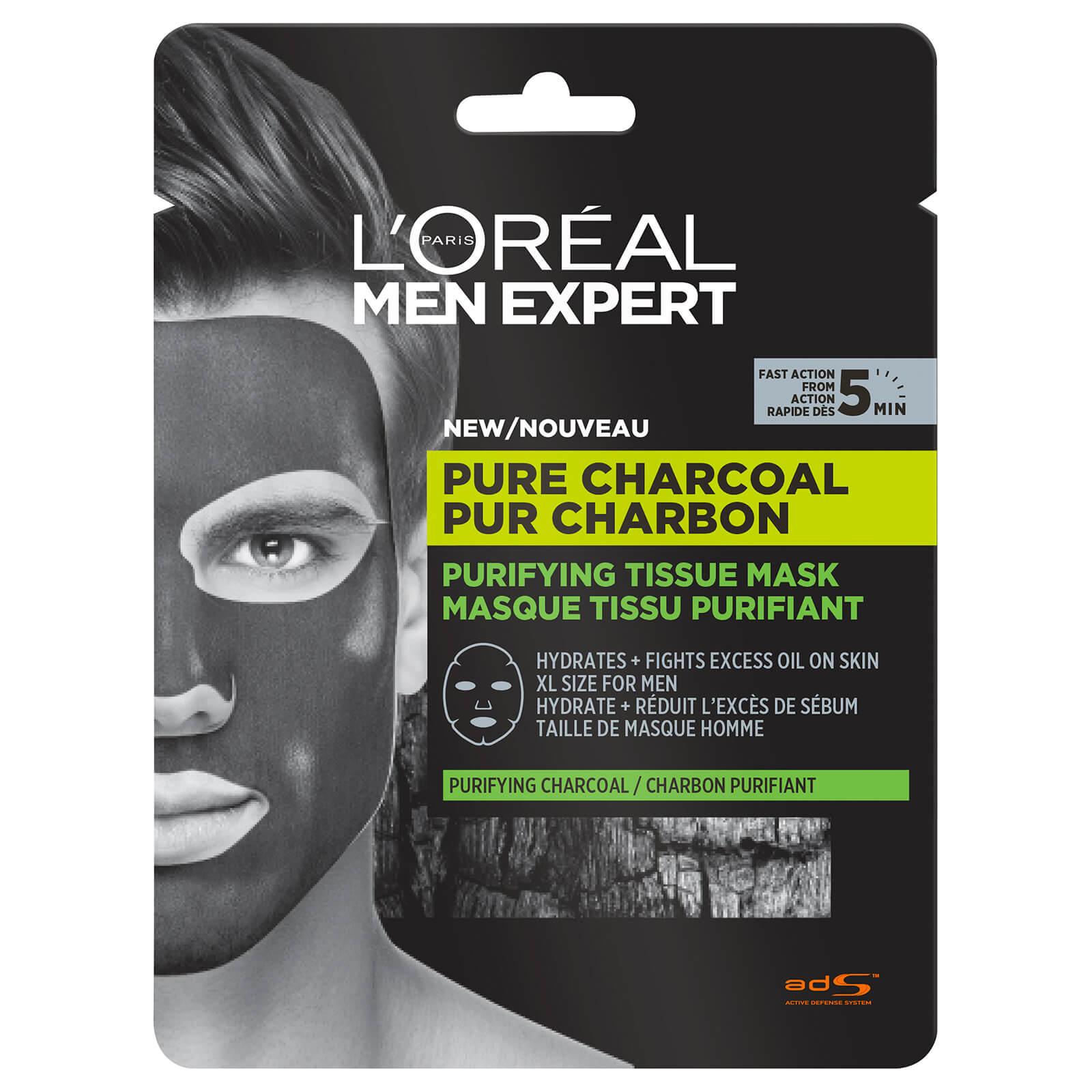 Mascarilla de carbón purificante de L'Oréal Men Expert