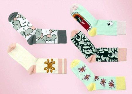 Calcetines de Giles Deacon para Happy Socks, pies y dedos a la moda