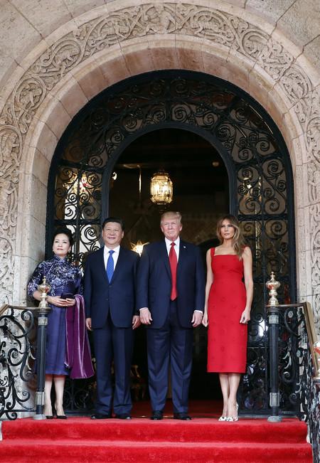 Melania Trump Recepcion Xi Jinping Vestido Valentino 2