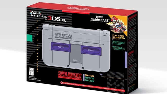 El New Nintendo 3DS edición Super Nintendo llegará el 27 de noviembre a América