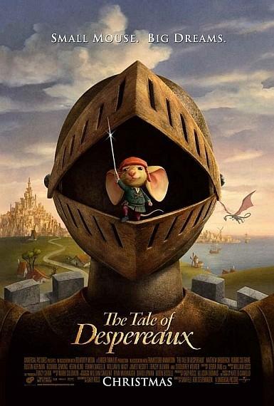 'El Valiente Despereaux' ('The Tale of Despereaux'), póster y trailer