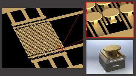 Gold Metasurface Graphic