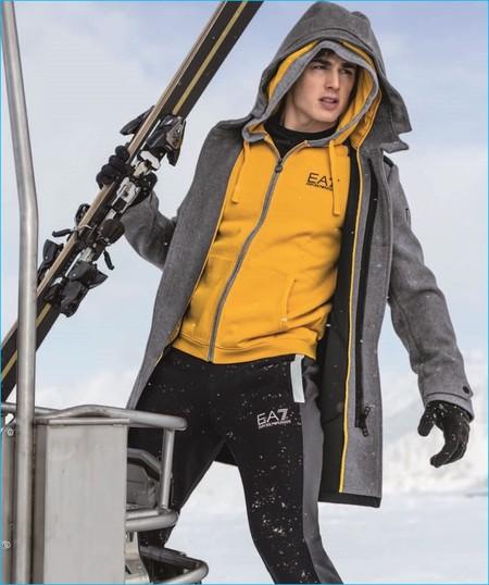 ¿Vas a esquiar estas vacaciones? EA7 y Pietro Boselli te muestran como mantenerte abrigado sin que descienda tu estilo