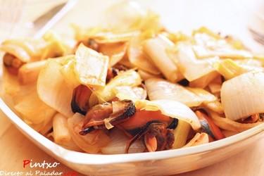 Receta de mejillones con verduras