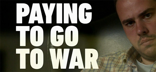 Paying to go to war - Antonio Pampliega